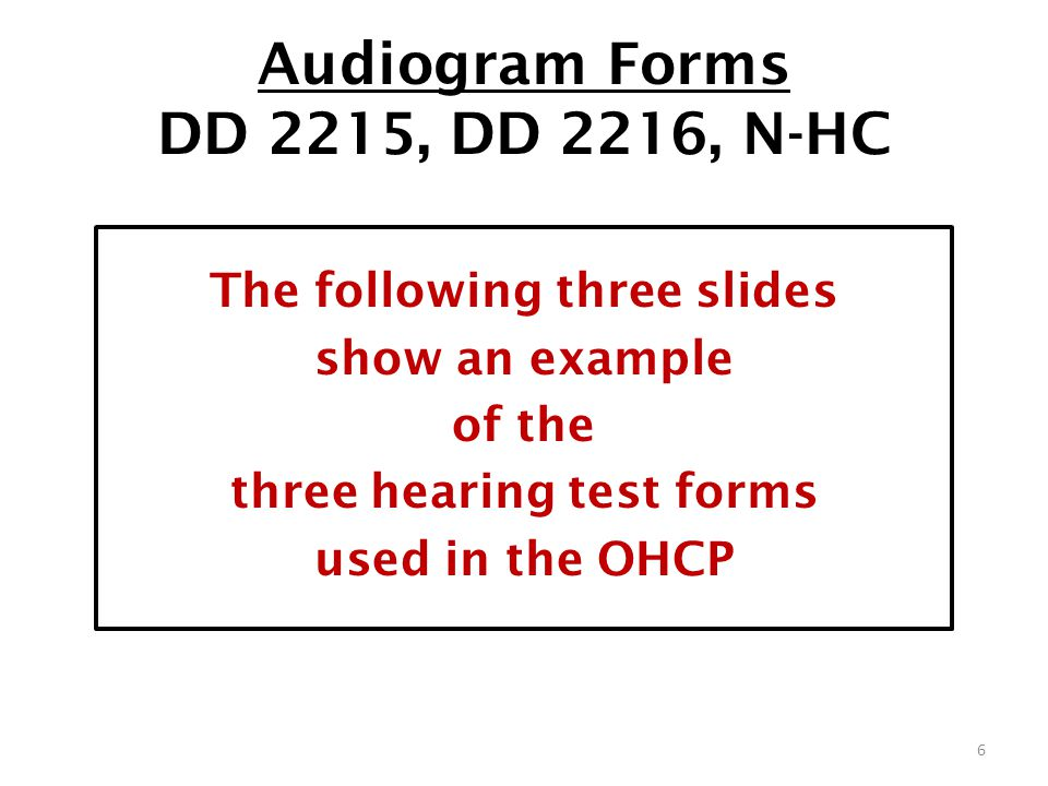 AUDIOMETRIC TESTING RESULTS, FOLLOW-UP and REFERRAL PROTOCOLS ...