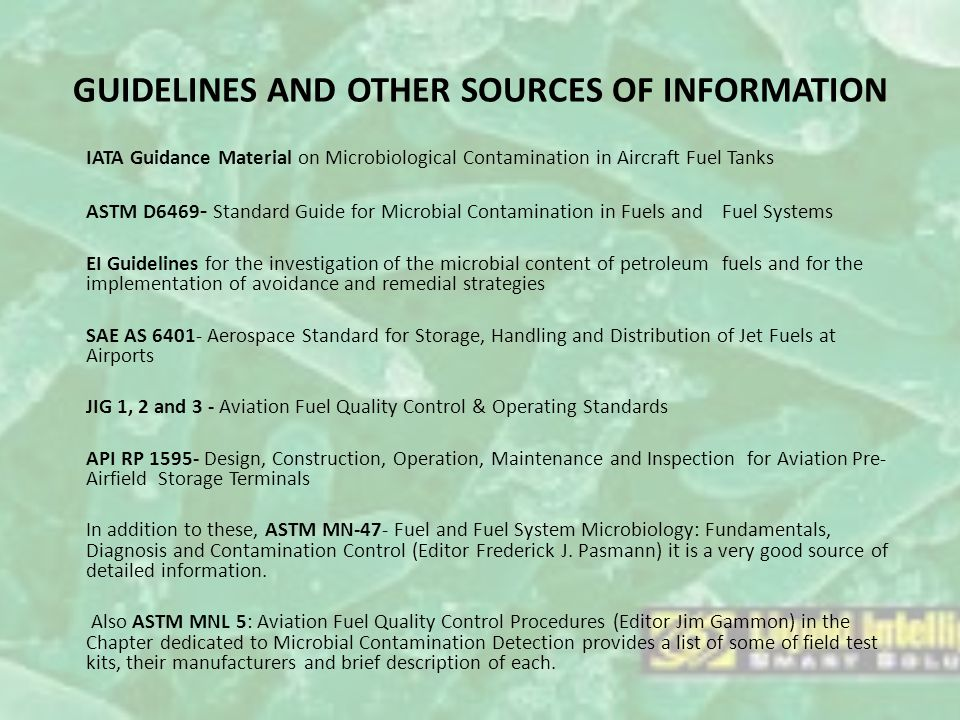 GUIDELINES AND OTHER SOURCES OF INFORMATION
