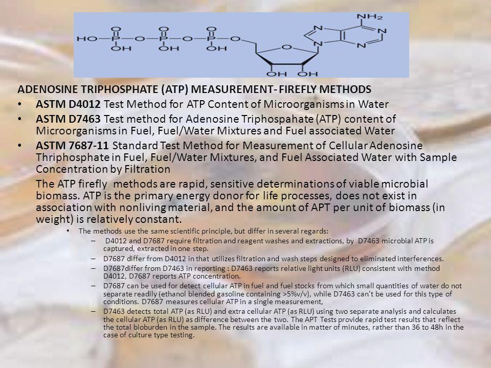 ADENOSINE TRIPHOSPHATE (ATP) MEASUREMENT- FIREFLY METHODS
