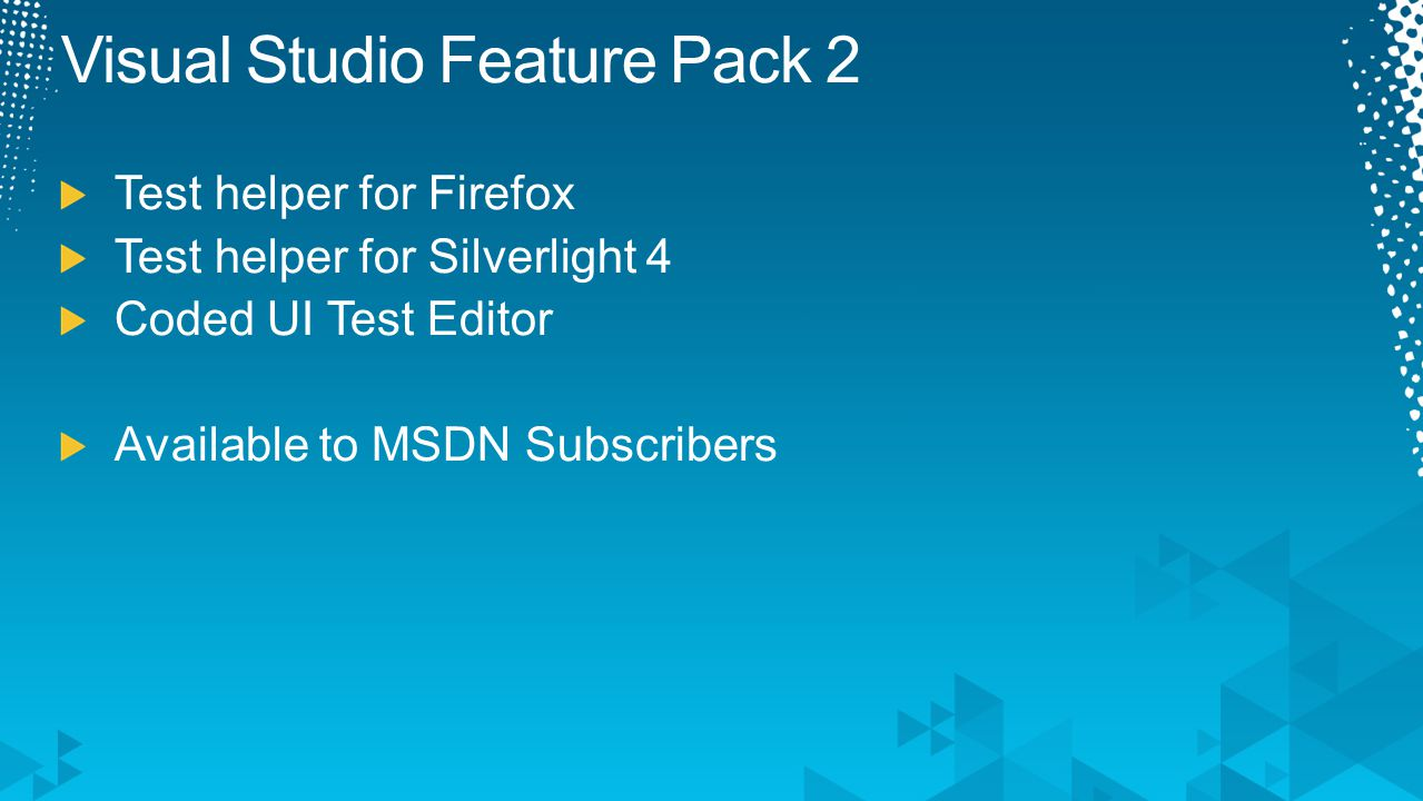 Visual Studio Feature Pack 2