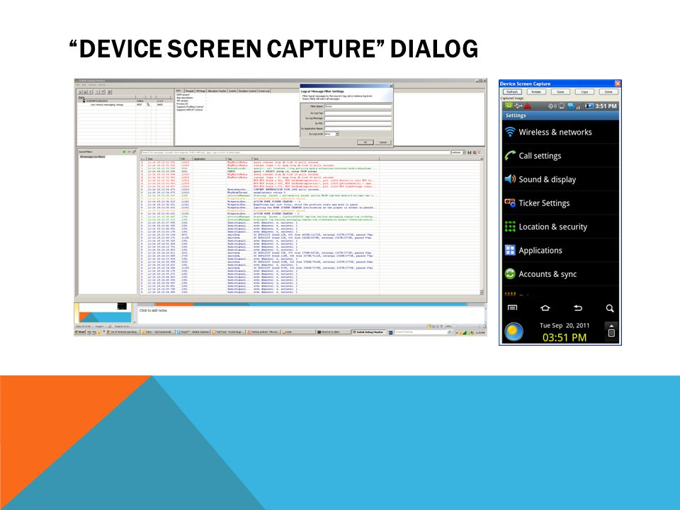 Device Screen Capture dialog