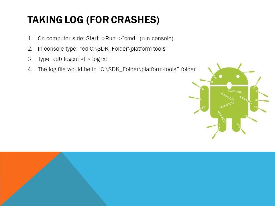 Taking log (For crashes)