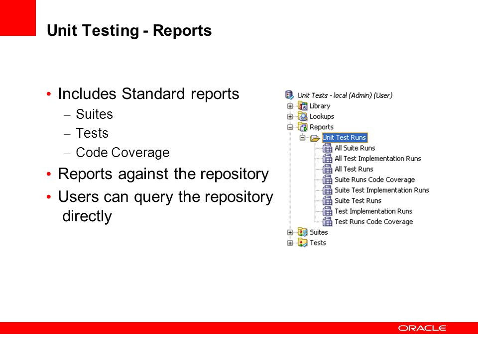 Includes Standard reports