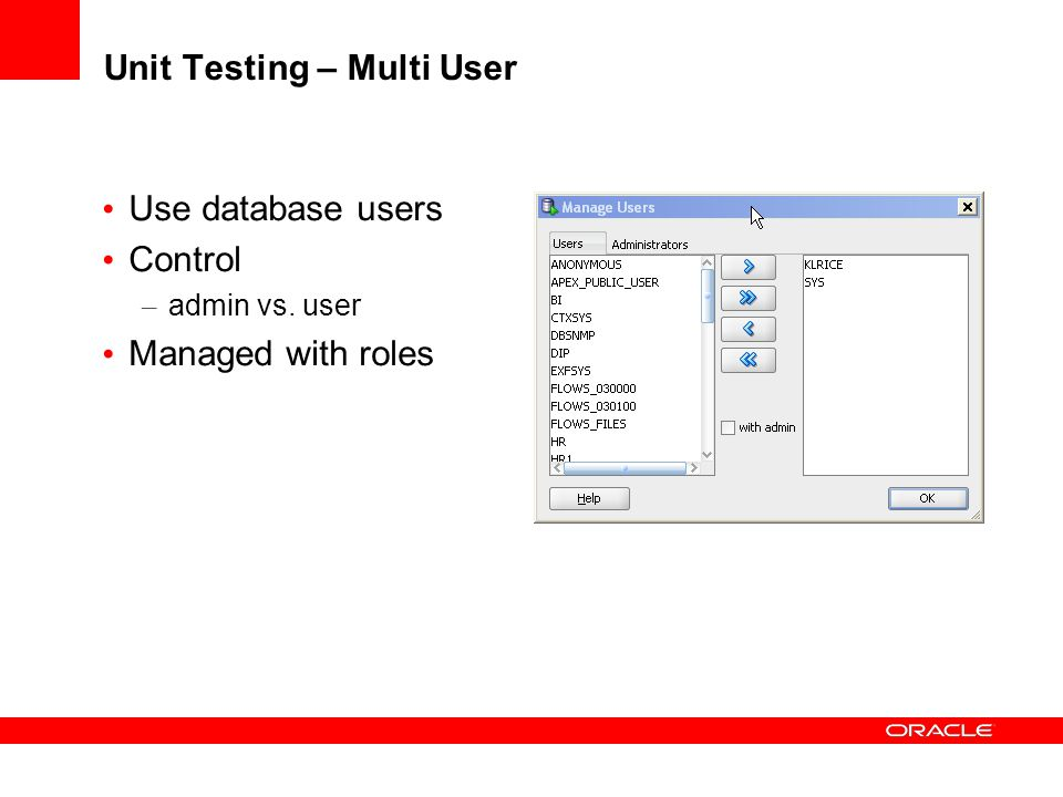 Unit Testing – Multi User