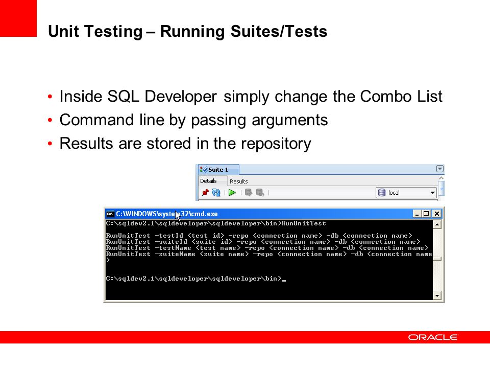 Unit Testing – Running Suites/Tests