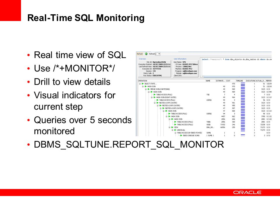 Real-Time SQL Monitoring