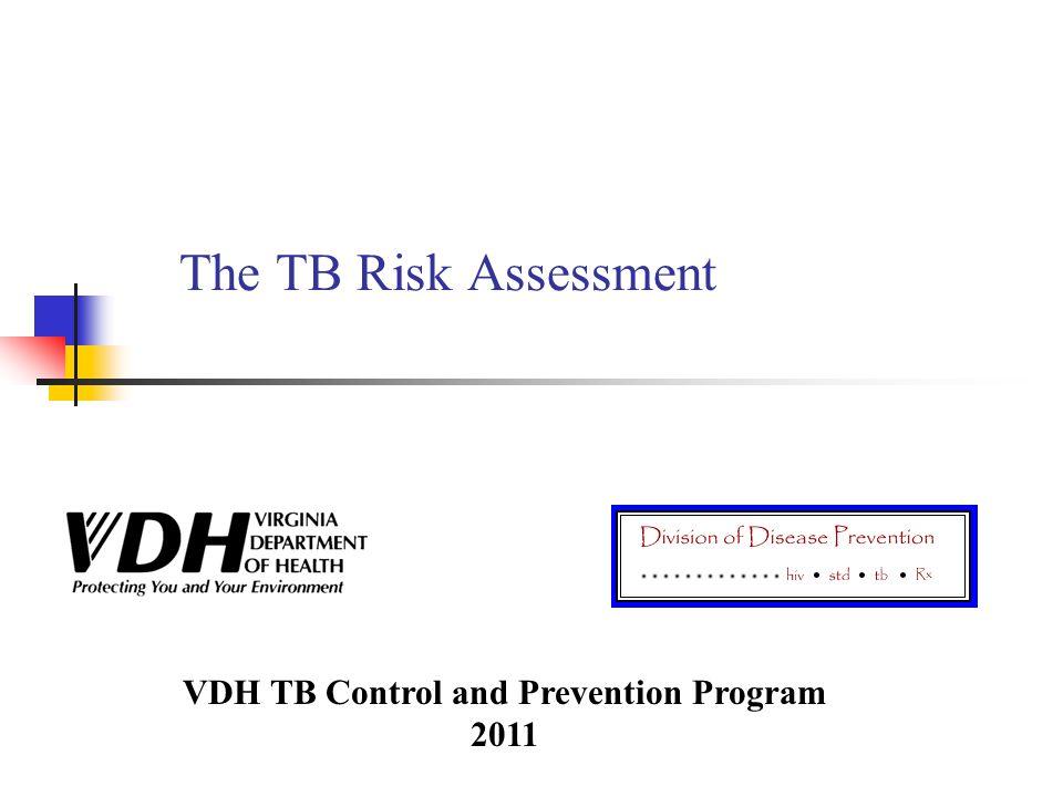 VDH TB Control and Prevention Program