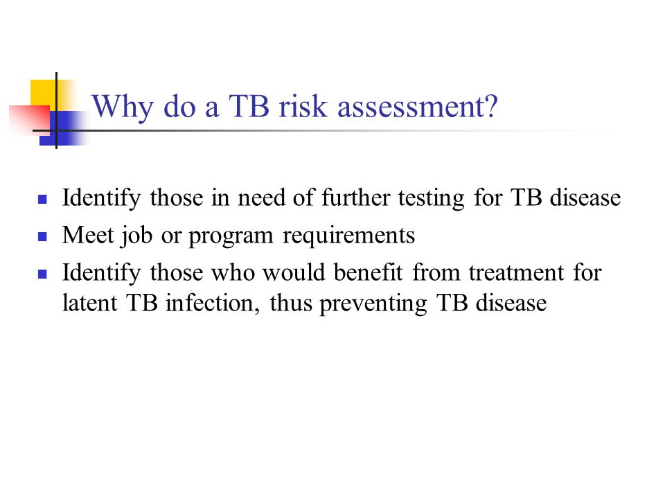Why do a TB risk assessment