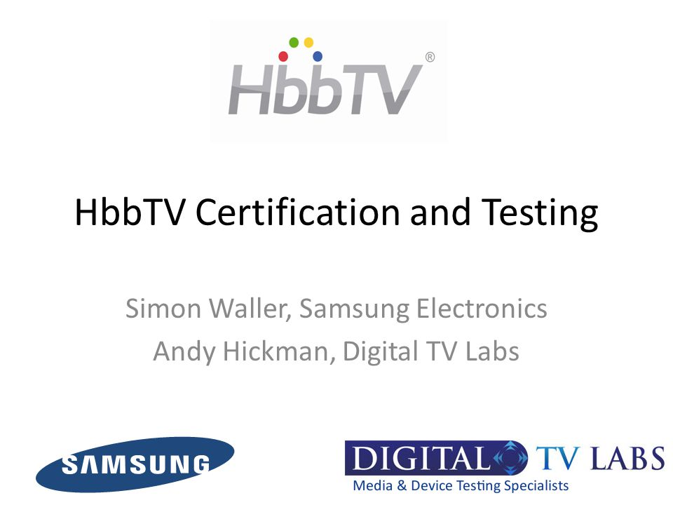 HbbTV Certification and Testing