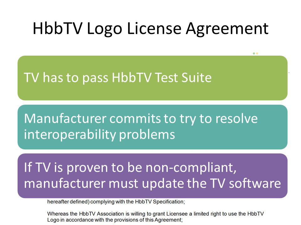 HbbTV Logo License Agreement