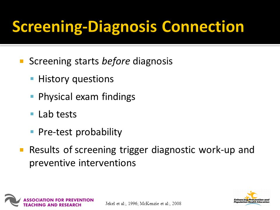 Screening-Diagnosis Connection