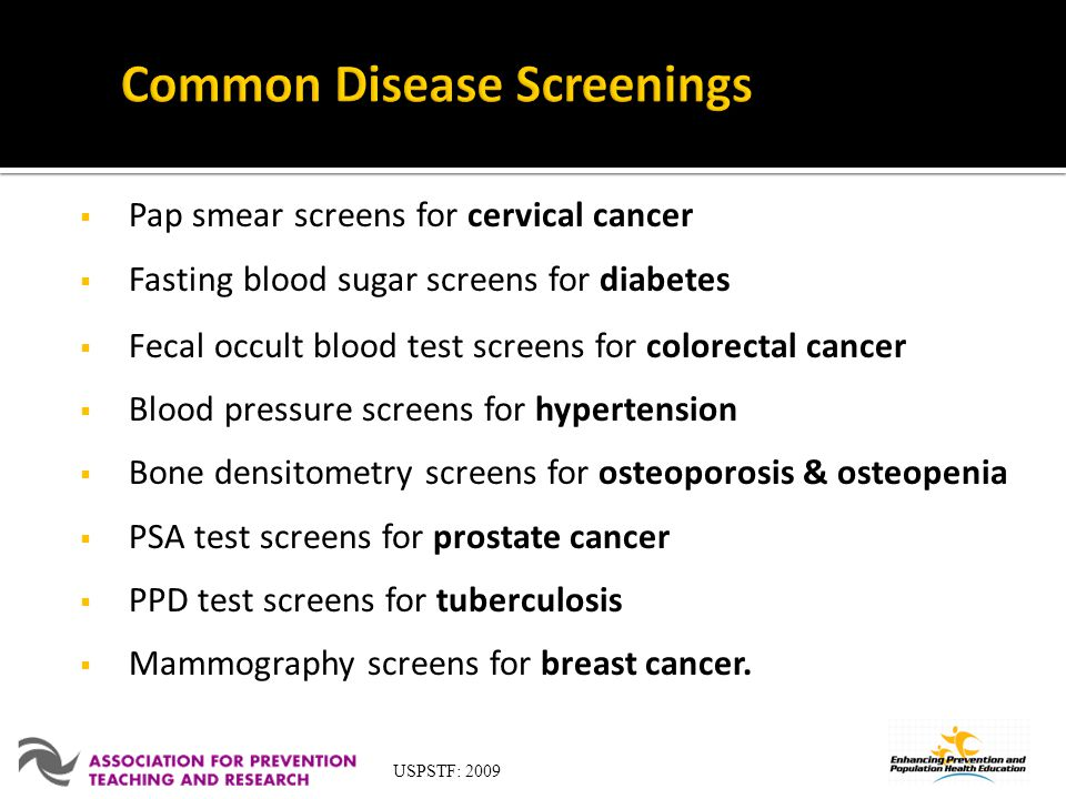 Common Disease Screenings