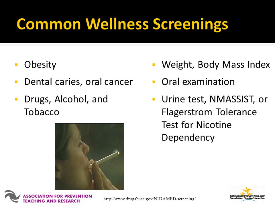 Common Wellness Screenings