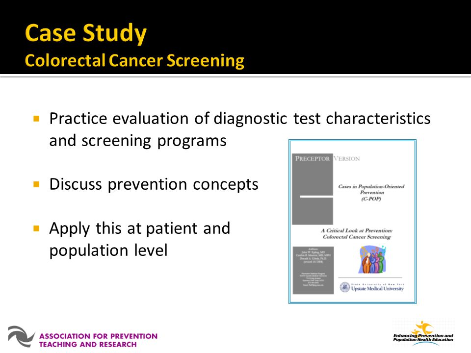 Case Study Colorectal Cancer Screening
