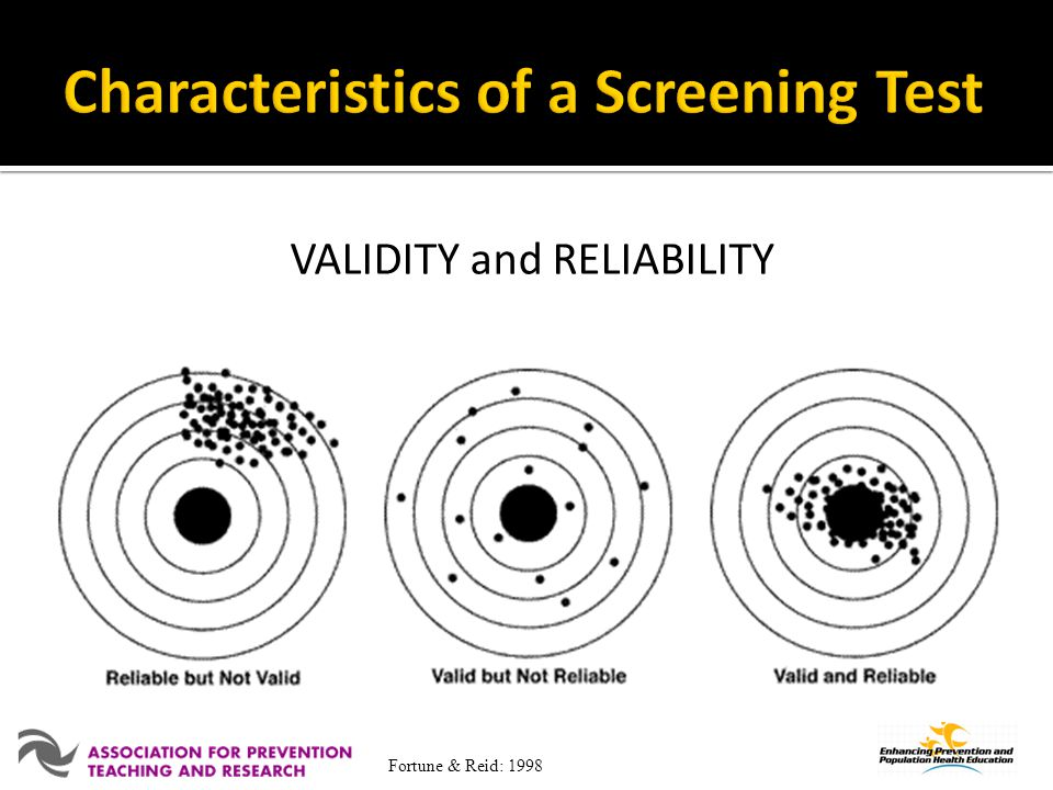 Characteristics of a Screening Test