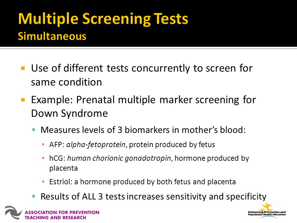 Multiple Screening Tests Simultaneous