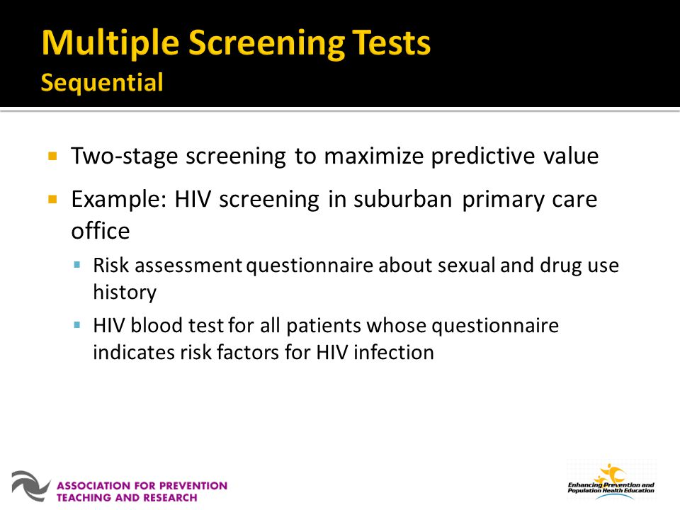 Multiple Screening Tests Sequential