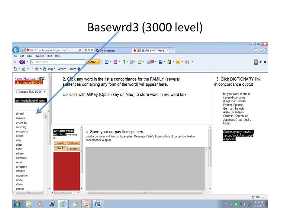 Basewrd3 (3000 level)