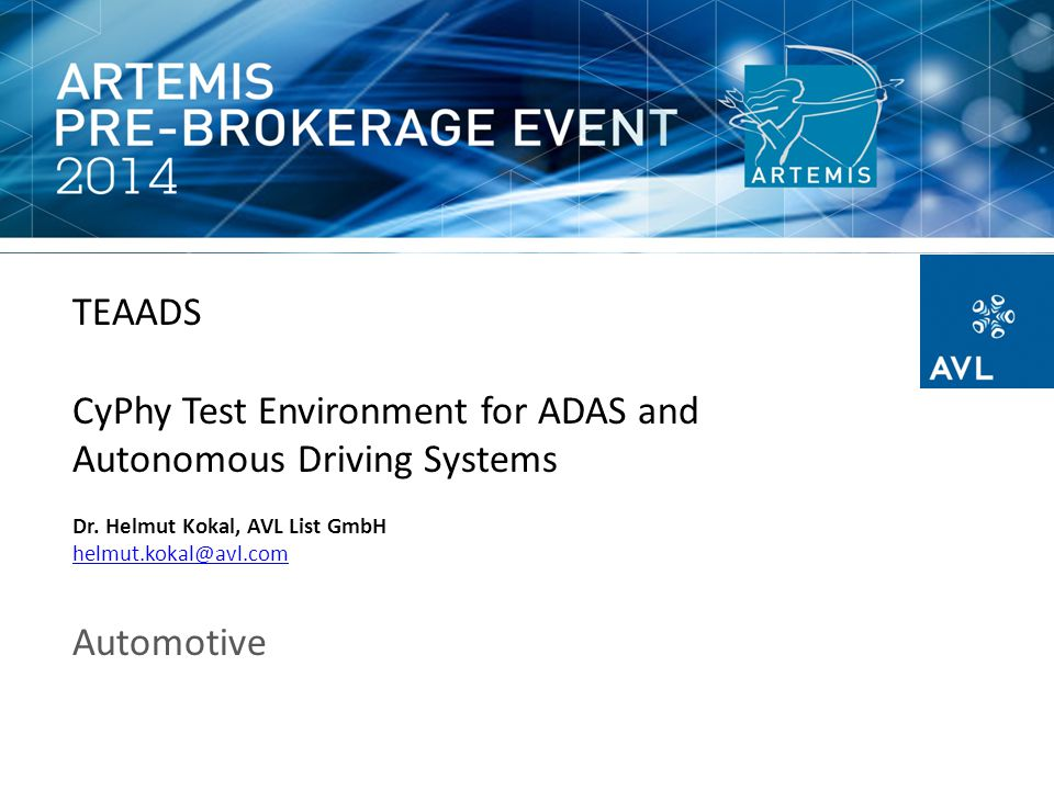 CyPhy Test Environment for ADAS and Autonomous Driving Systems