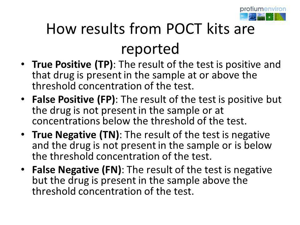 How results from POCT kits are reported