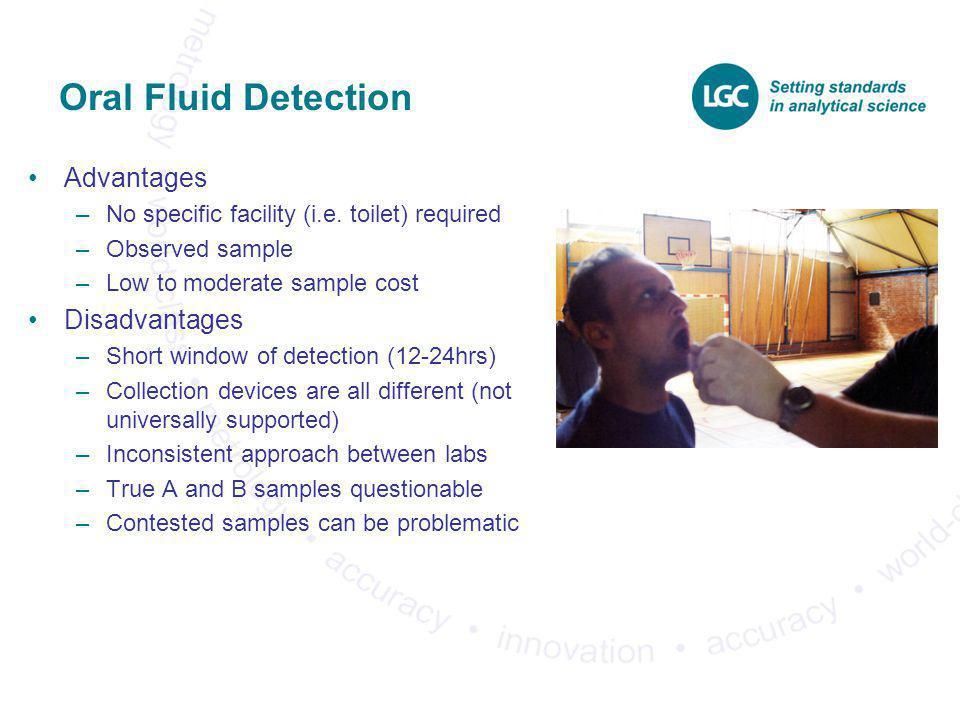 Oral Fluid Detection Advantages Disadvantages