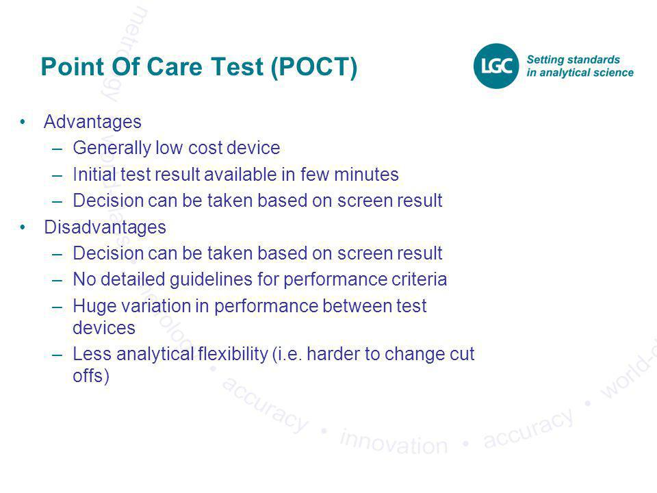 Point Of Care Test (POCT)