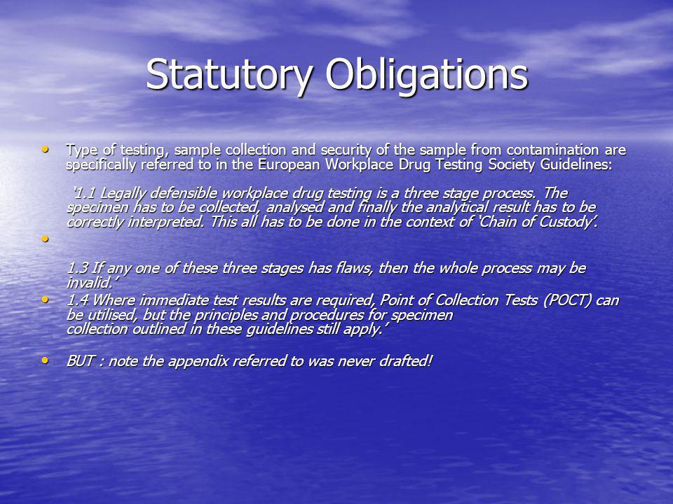 Statutory Obligations