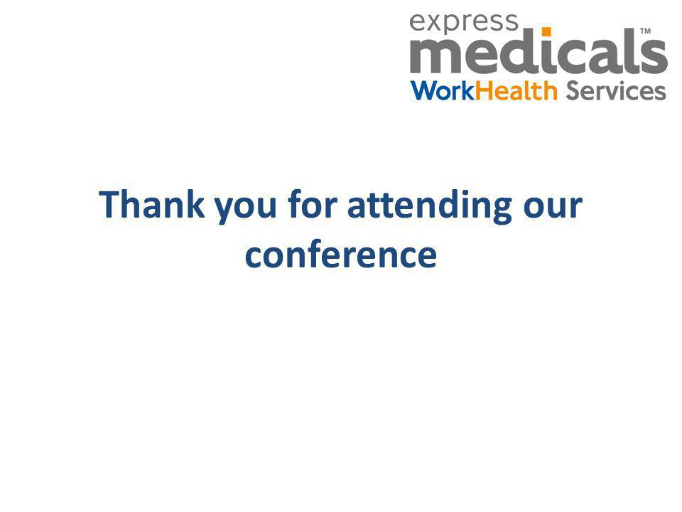 Thank you for attending our conference