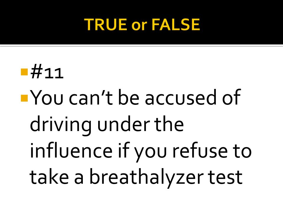 TRUE or FALSE #11.