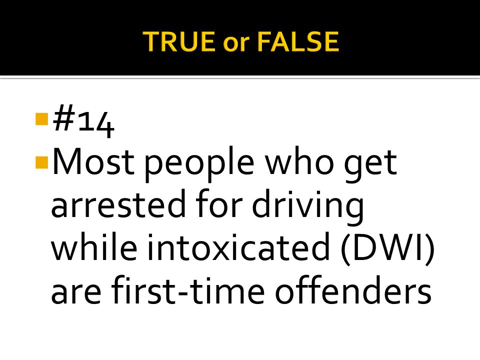 TRUE or FALSE #14.
