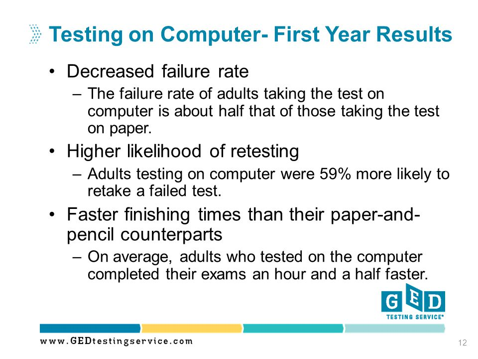 Testing on Computer- First Year Results