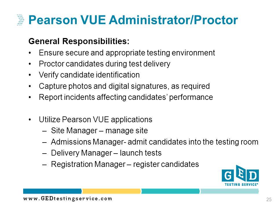 Pearson VUE Administrator/Proctor