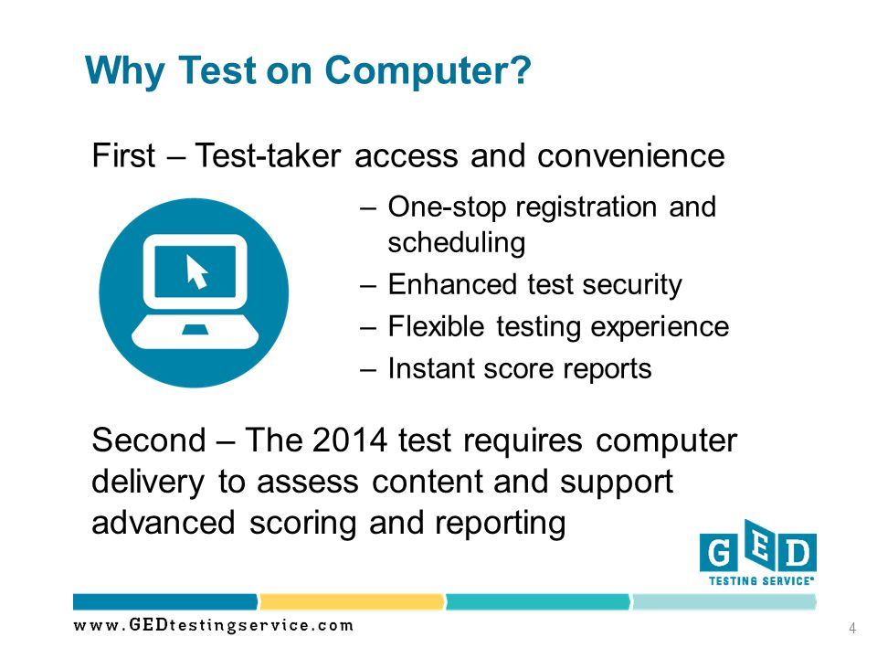 Why Test on Computer First – Test-taker access and convenience