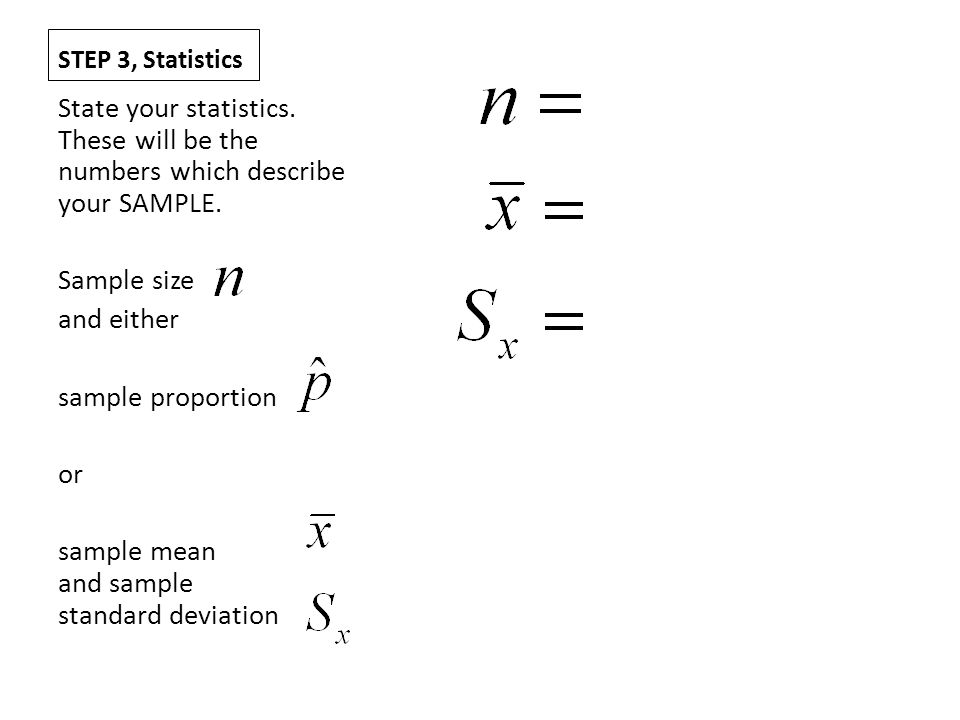 sample mean and sample standard deviation