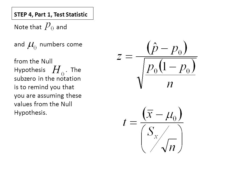 STEP 4, Part 1, Test Statistic