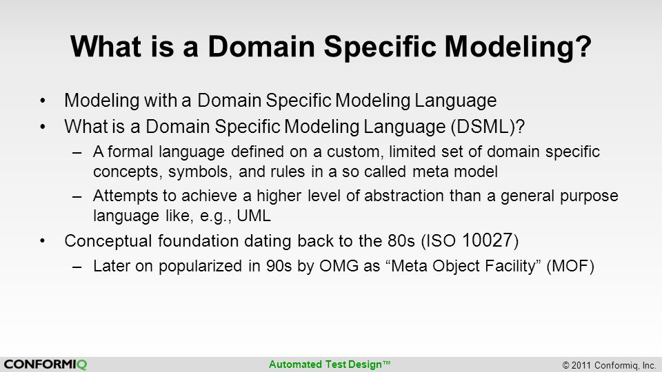 What is a Domain Specific Modeling