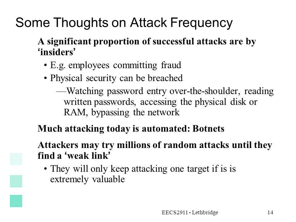 Some Thoughts on Attack Frequency