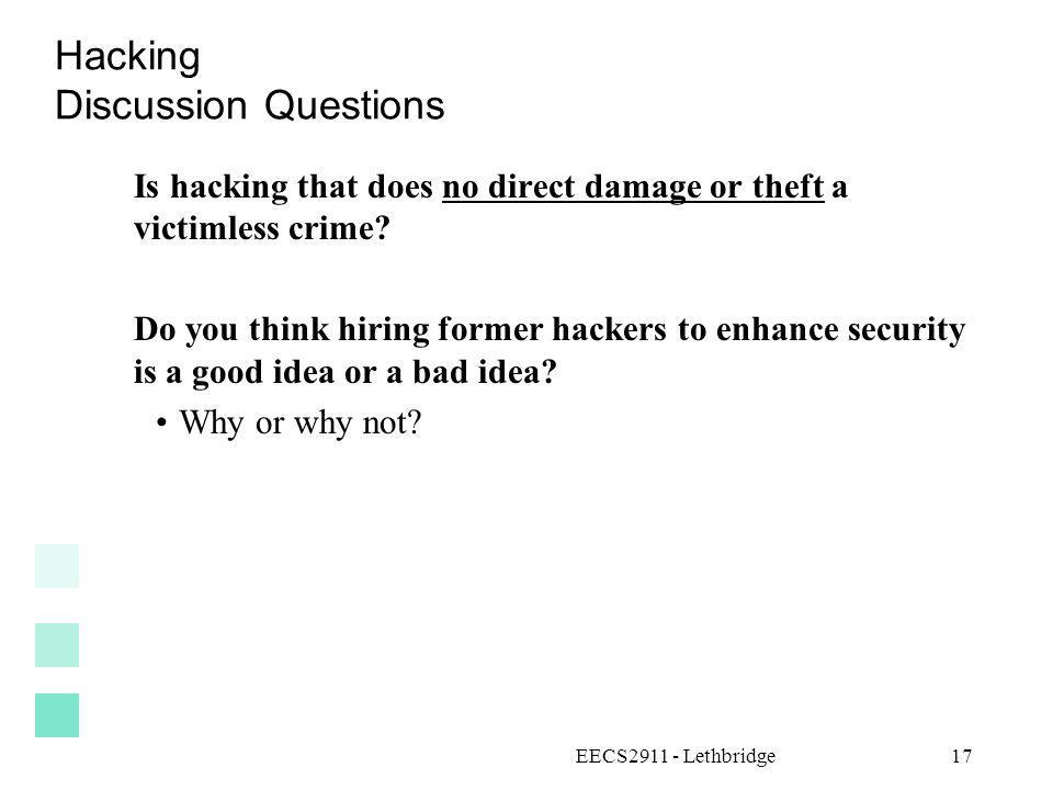 Hacking Discussion Questions