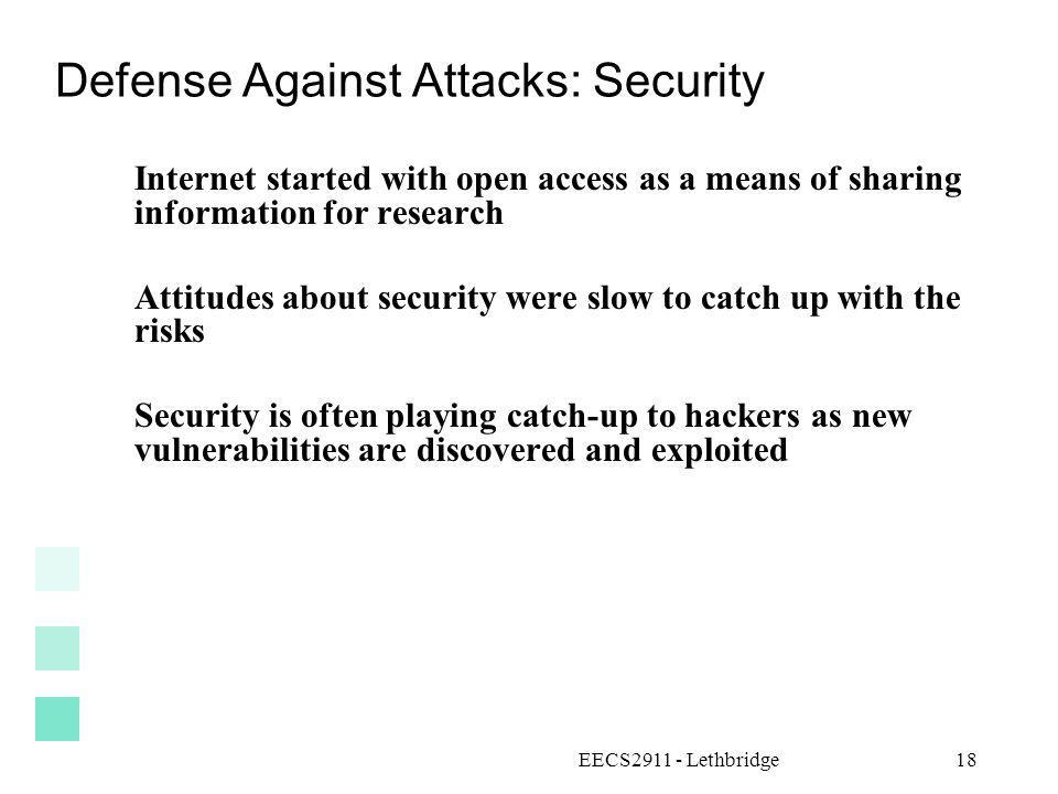 Defense Against Attacks: Security