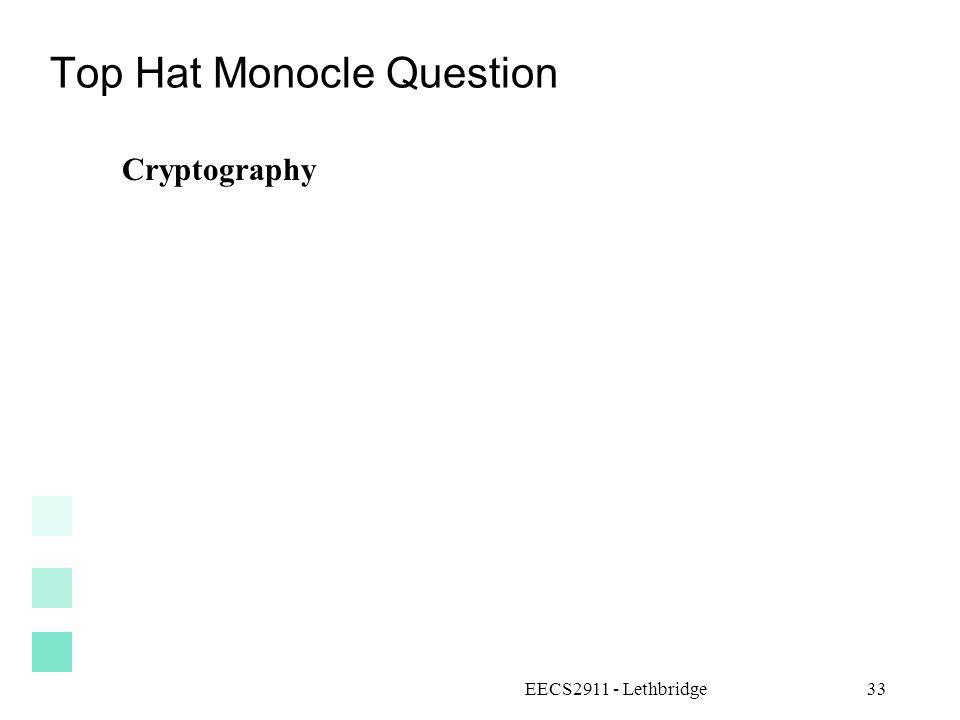 Top Hat Monocle Question