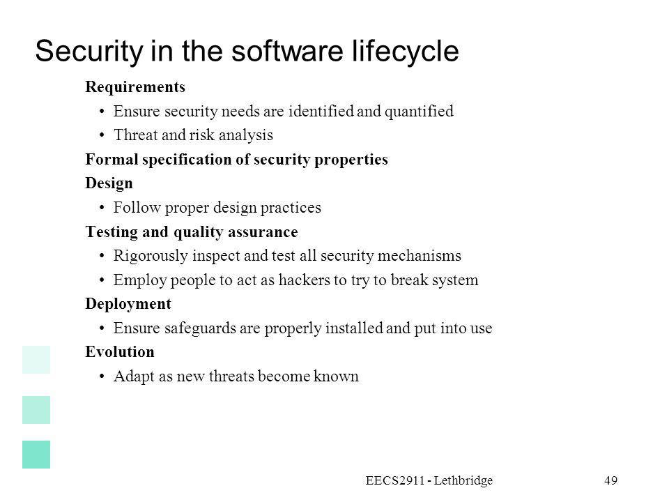 Security in the software lifecycle