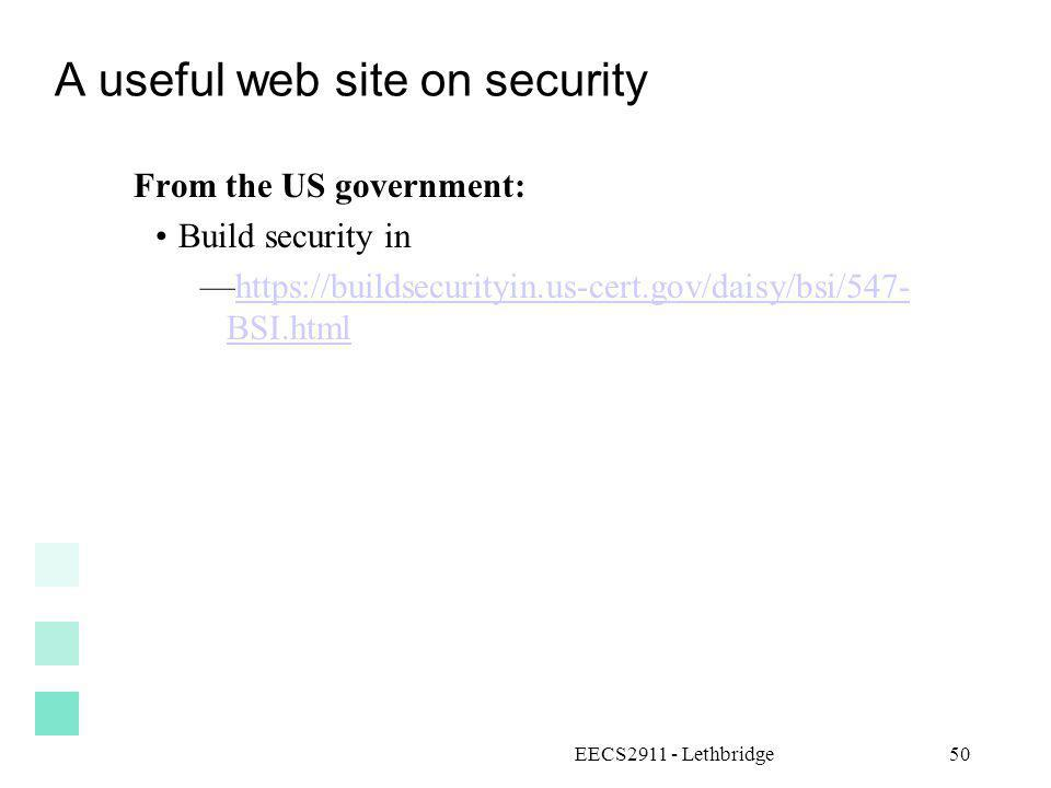 A useful web site on security
