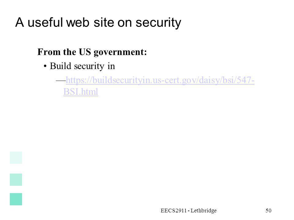 A useful web site on security