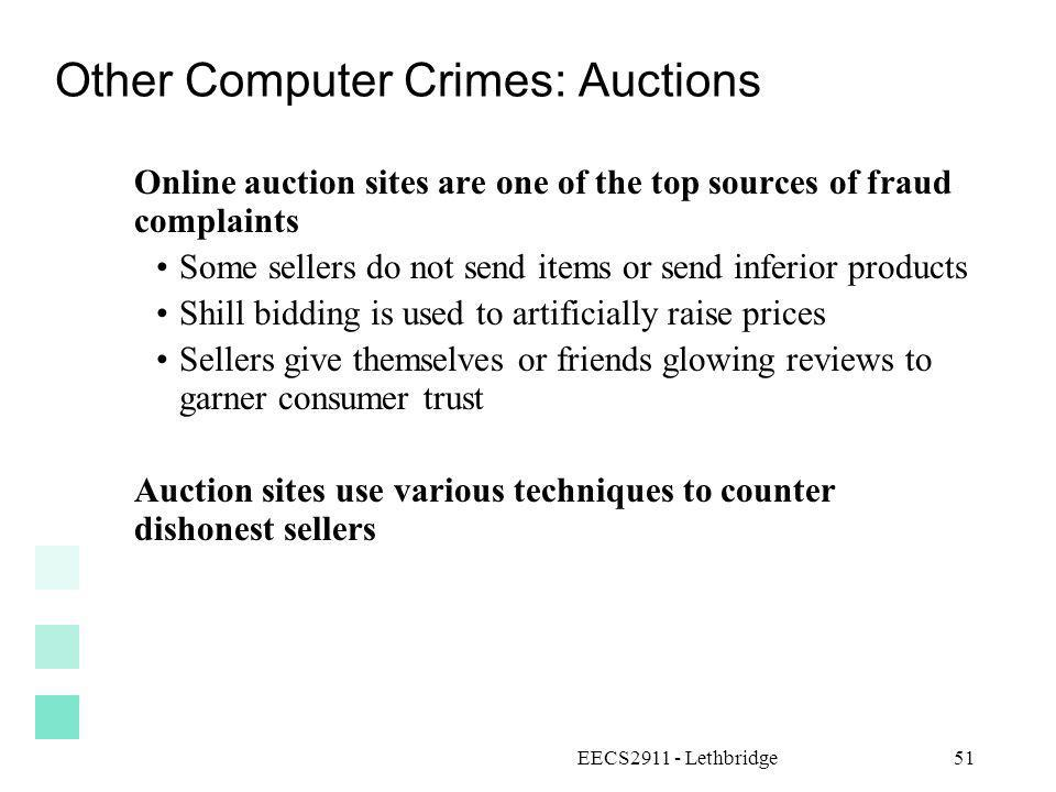 Other Computer Crimes: Auctions