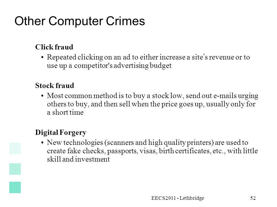Other Computer Crimes Click fraud