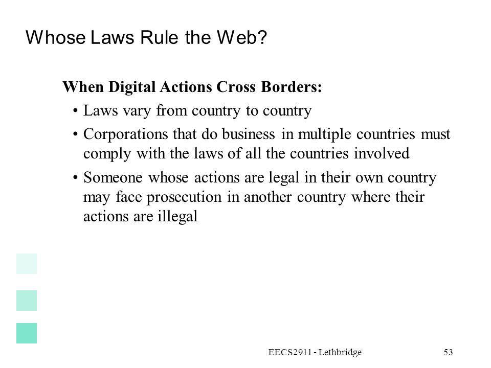 Whose Laws Rule the Web When Digital Actions Cross Borders: