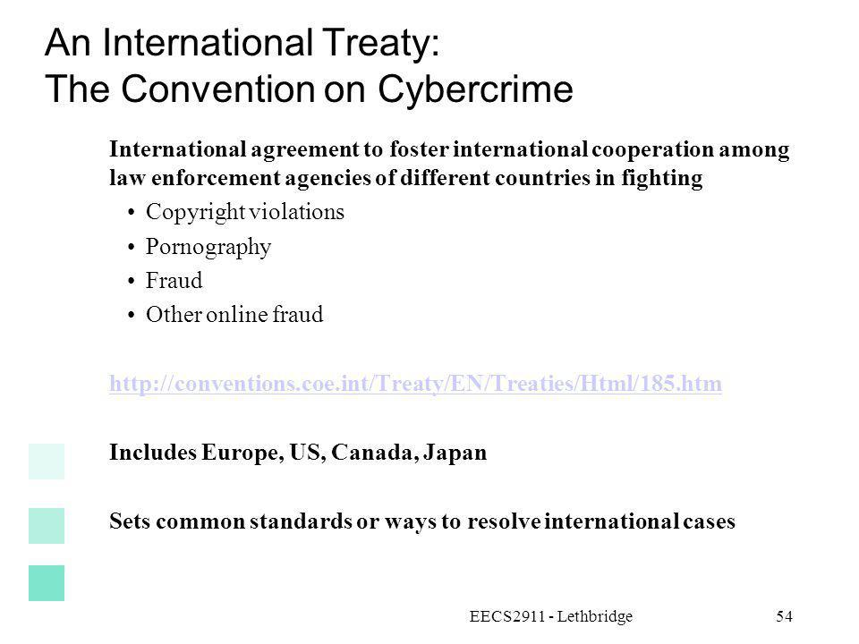 An International Treaty: The Convention on Cybercrime
