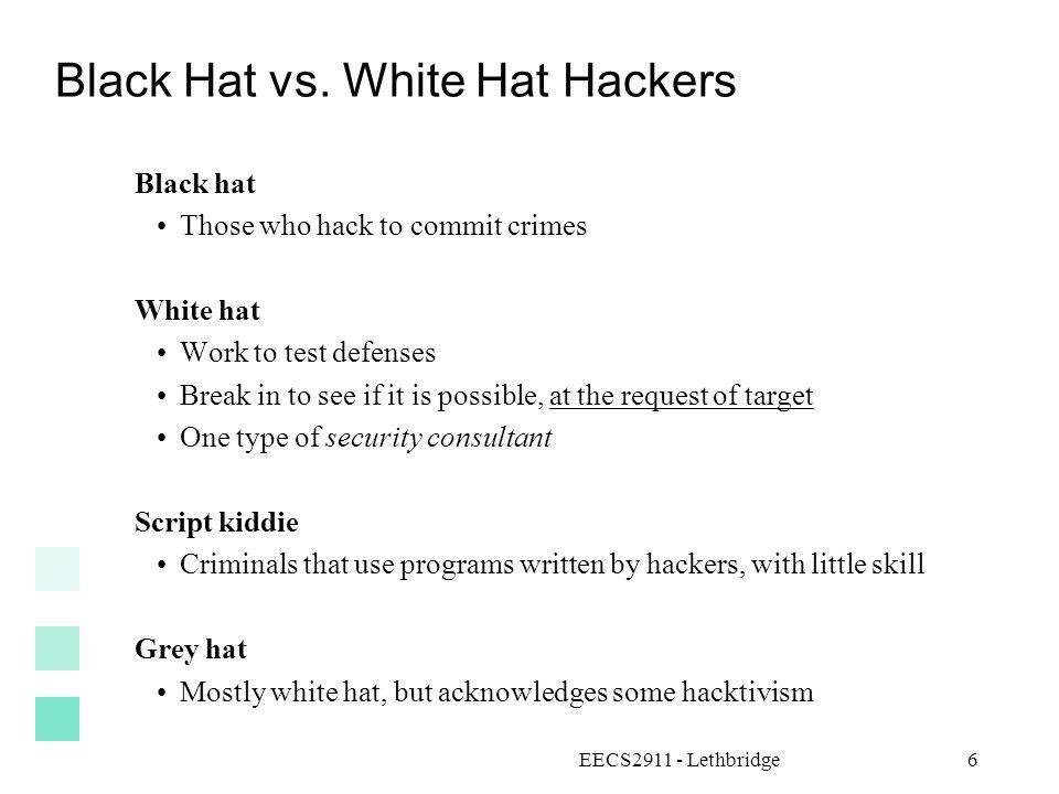 Black Hat vs. White Hat Hackers