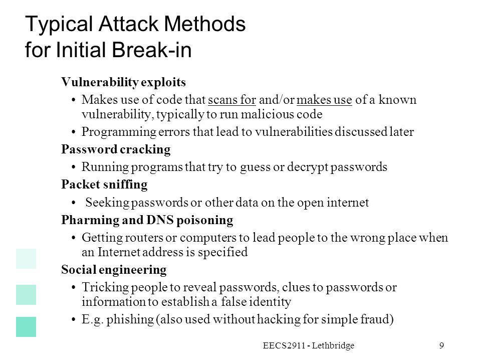 Typical Attack Methods for Initial Break-in