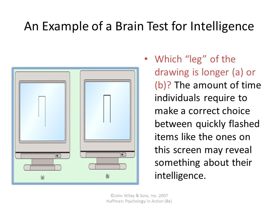 An Example of a Brain Test for Intelligence